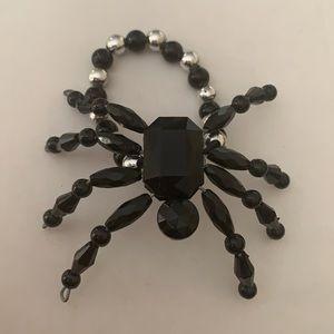 Large Spider Stretch Bracelet Cuff Tarantula Bead